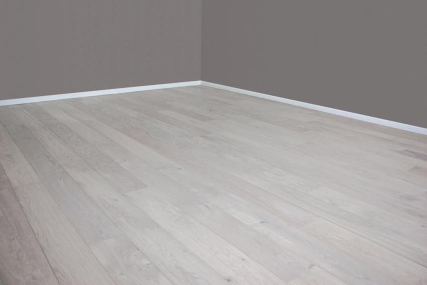 Parkettboden weiß  Eiche weiß geölt gebürstet Landhausdiele Parkett - Tresabo