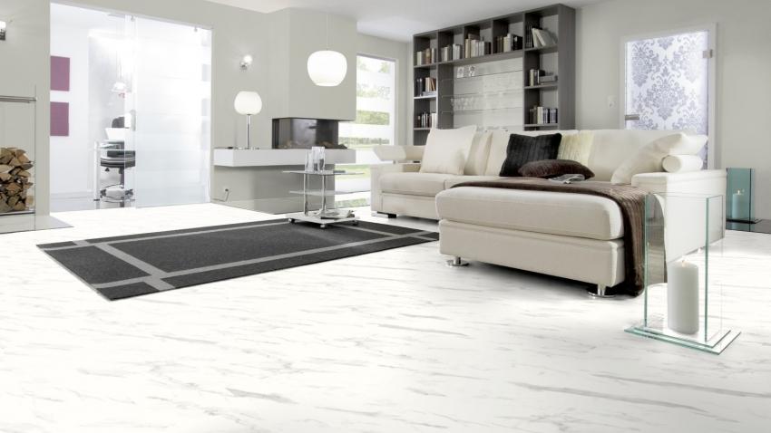 carrara marmor hochgl nzen wineo color hochglanz tresabo. Black Bedroom Furniture Sets. Home Design Ideas